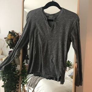 Madewell long sleeves Henley top